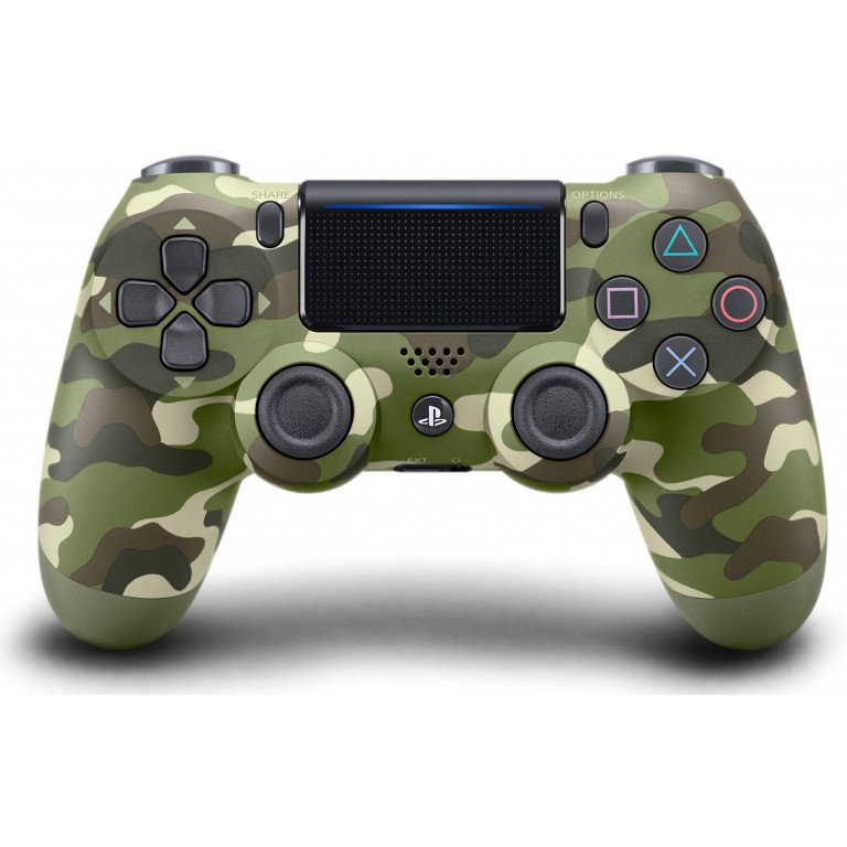 Mando Dualshock 4 inalambrico en color (green camouflage) para PS4