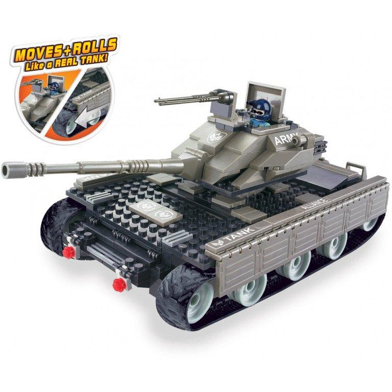 Brictek - Army - Mega tanque (10 en 1) 321 piezas - Modelo 15014