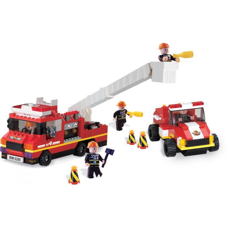 Brictek - Bomberos - Camión contra incendios y vehículo - 336 piezas - Modelo 11309