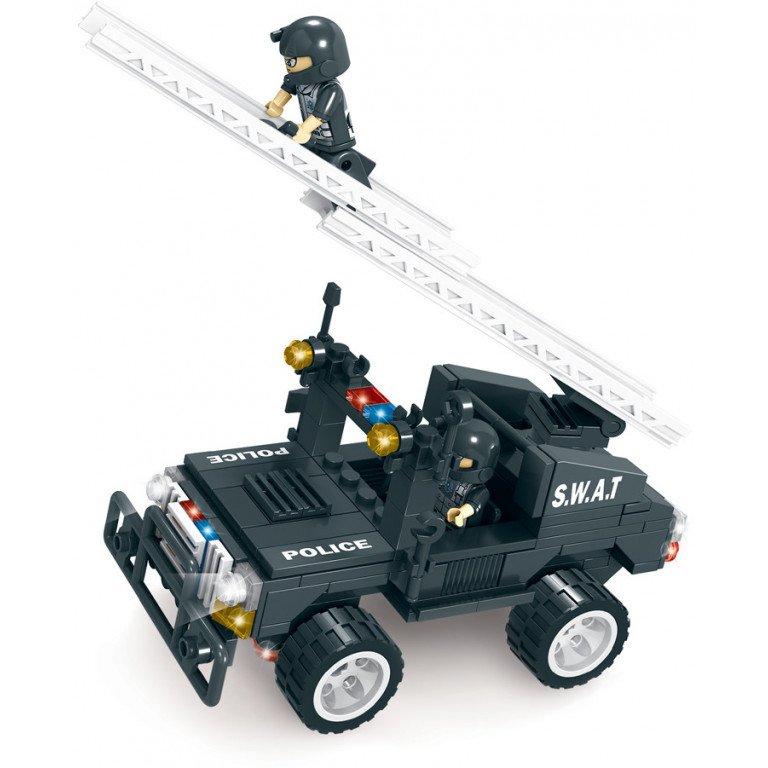 Brictek - SWAT - Jeep con escala 205 piezas - Modelo 11104