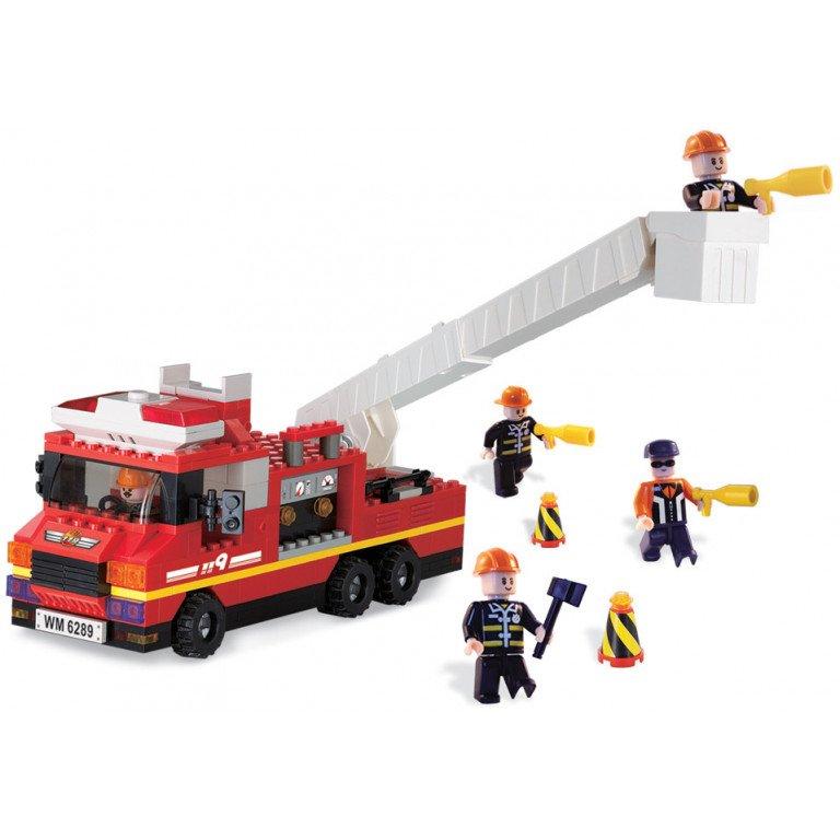 Brictek - Bomberos - Camión contra incendios - 240 piezas - Modelo 11308