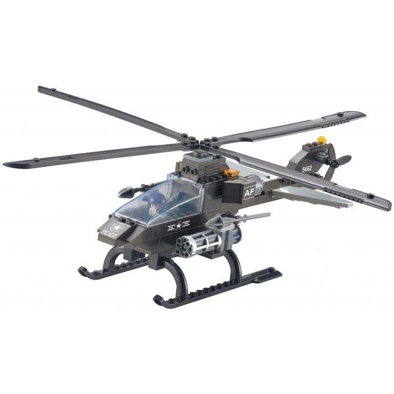 Brictek - Air Force -  Elicòptero de ataque (3 en 1) 114 piezas - Modelo 15706