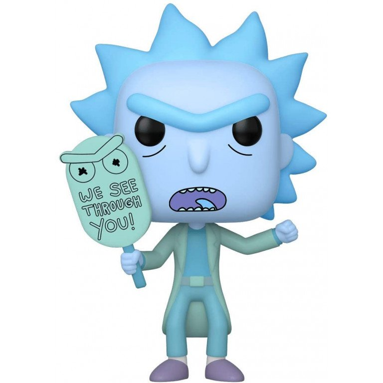 Funko POP - Animation - Rick and Morty - Hologram Rick Clone