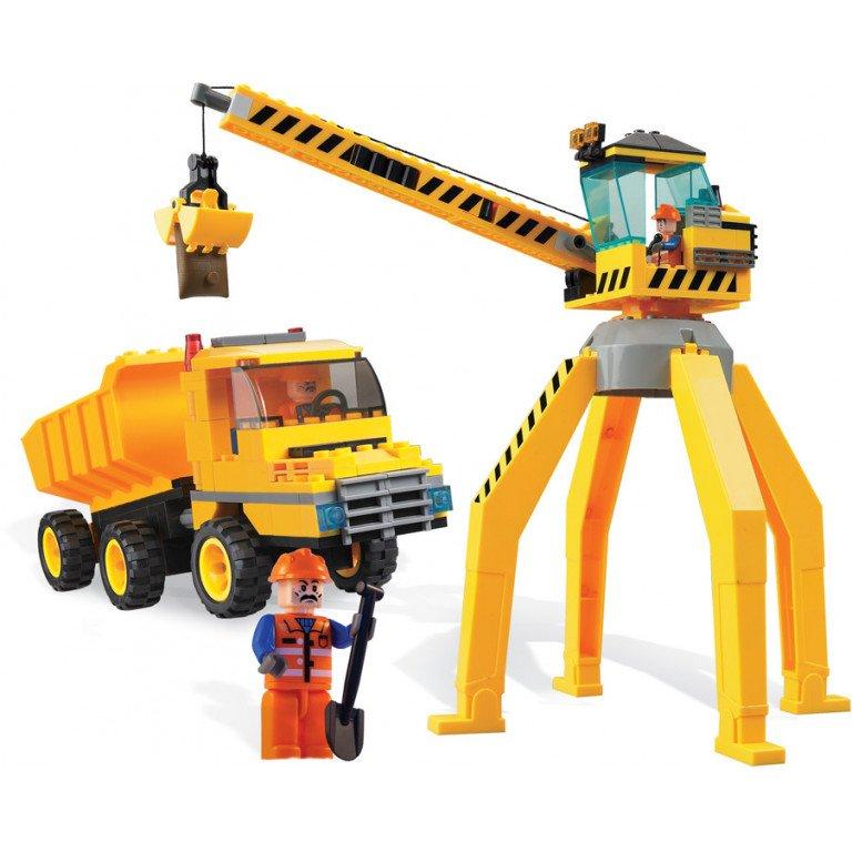 Brictek - Construcción - Grúa y Camión - 238 piezas - Modelo 14004