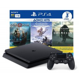 CONSOLA SONY PS4 BUNDLE CON 3 JUEGOS