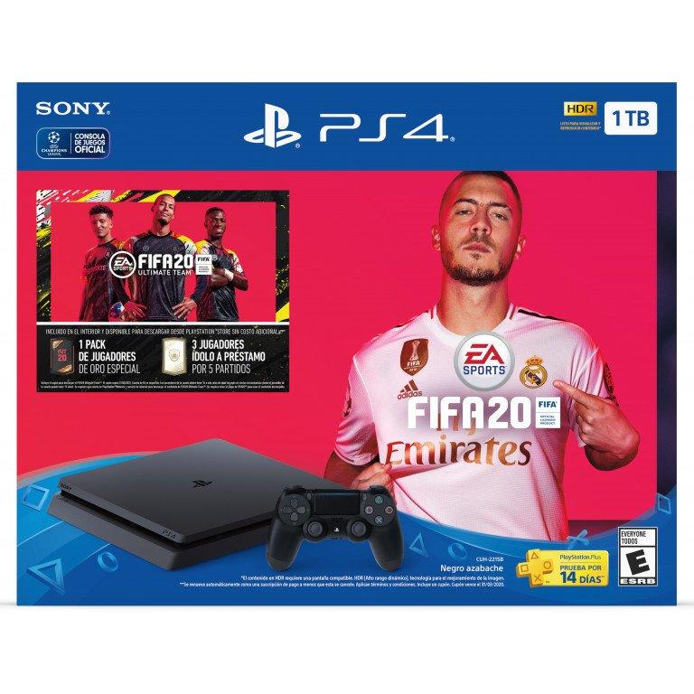 Sony Playstation 4 + FIFA 2020. Consola 1TB HDR LATAM