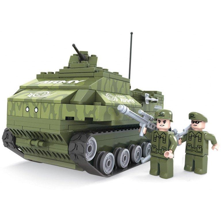 Brictek - Army - Tanque con bazuca del ejército - 199 piezas - Modelo 25005