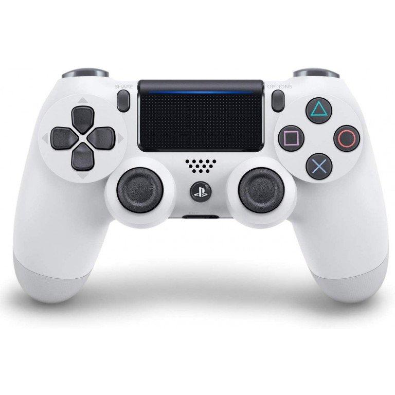 Mando Dualshock 4 inalambrico en color (blanco glaciar) para PS4