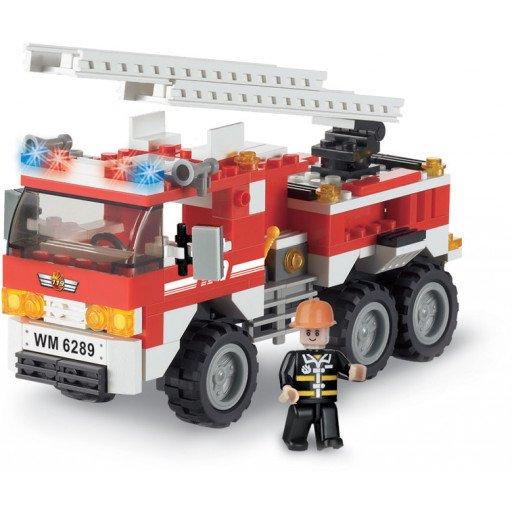 Brictek - Bomberos - Camión contra incendios - 171 piezas - Modelo 11303