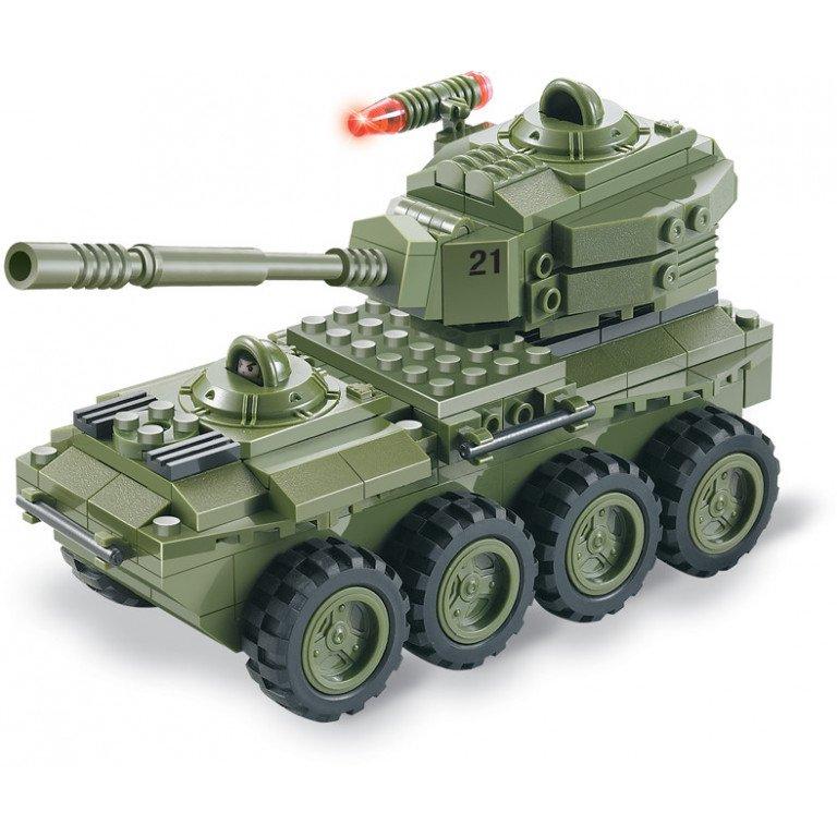 Brictek - Army - Tanque 8 Ruedas - 203 piezas - Modelo 15033