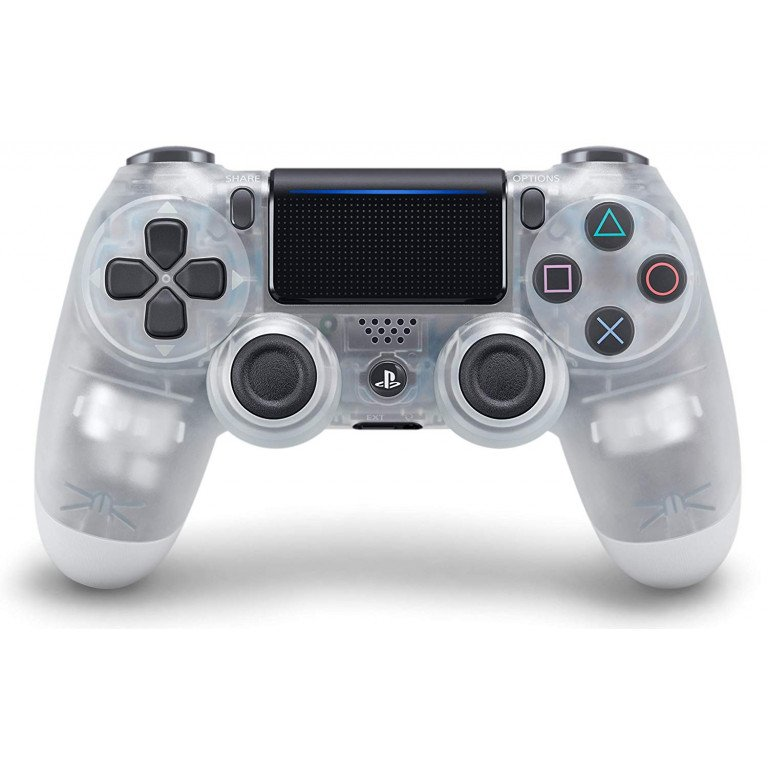 Mando Dualshock 4 inalambrico en color (crystal blanco) para PS4