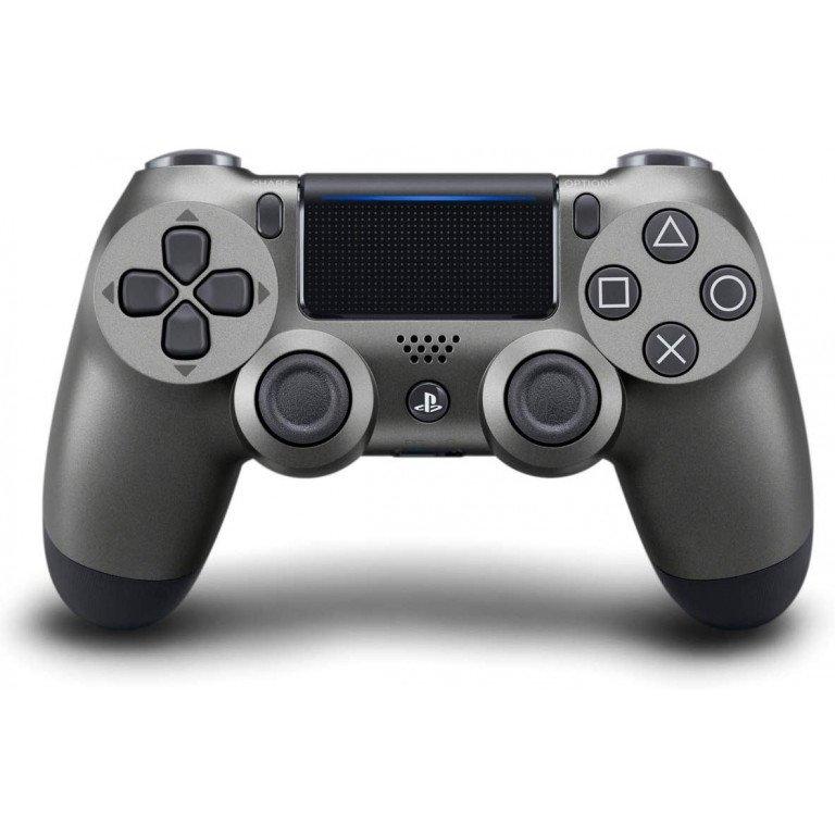 Mando Dualshock 4 inalambrico en color (negro acero) para PS4