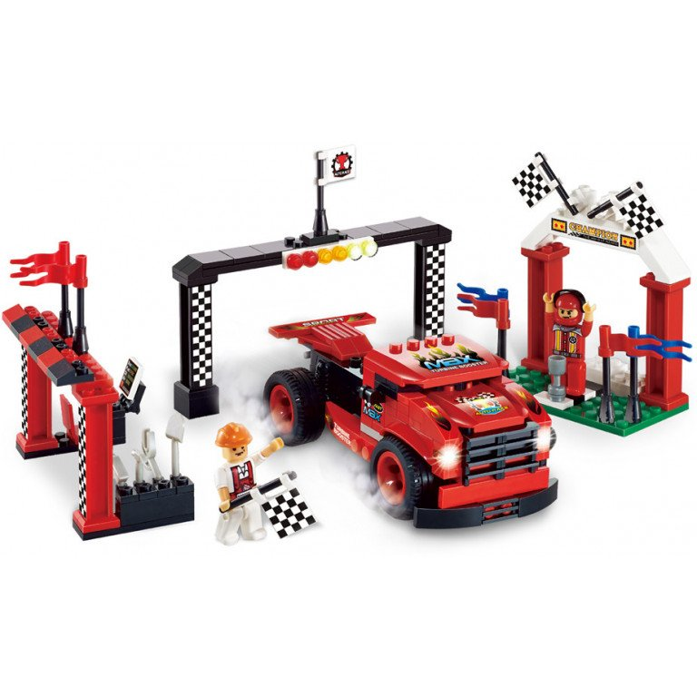 Brictek - Racing - Camión de carreras rojo 200 piezas - Modelo 11528