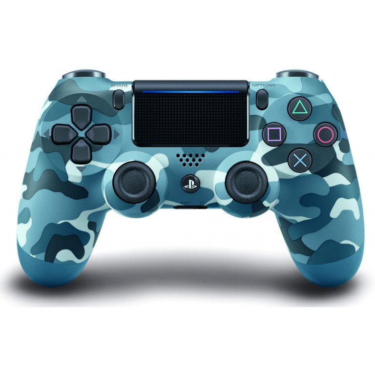 Mando Dualshock 4 inalambrico en color (blue camouflage) para PS4