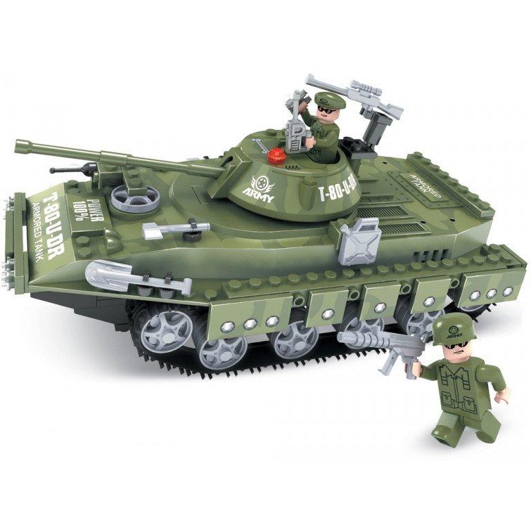 Brictek - Army - Tanque T-80-U del Ejército - 213 piezas - Modelo 25007