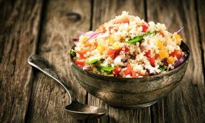 Comparación nutricional del Arroz, la Quinua y el Fideo
