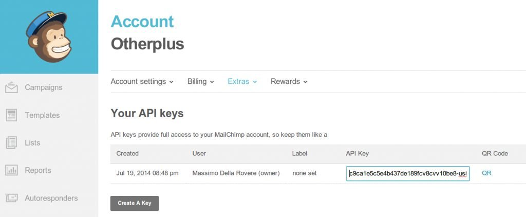 API Mailchimp