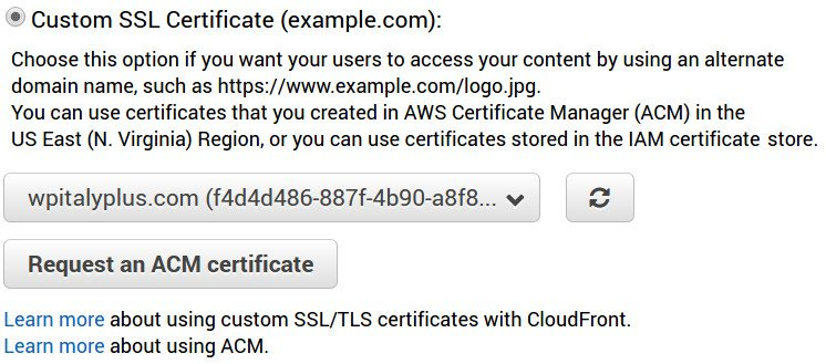 Custom SSL cloudfront
